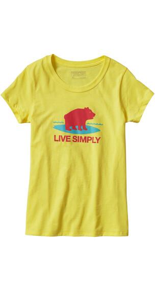 Patagonia Girls Graphic Cotton/Poly T-Shirt Blazing Yellow